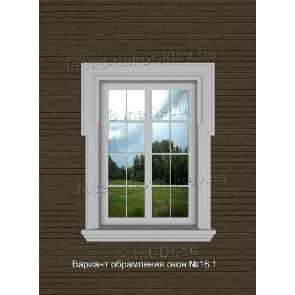 Фасад дома варианты отделки окон на фасаде № 18.1
